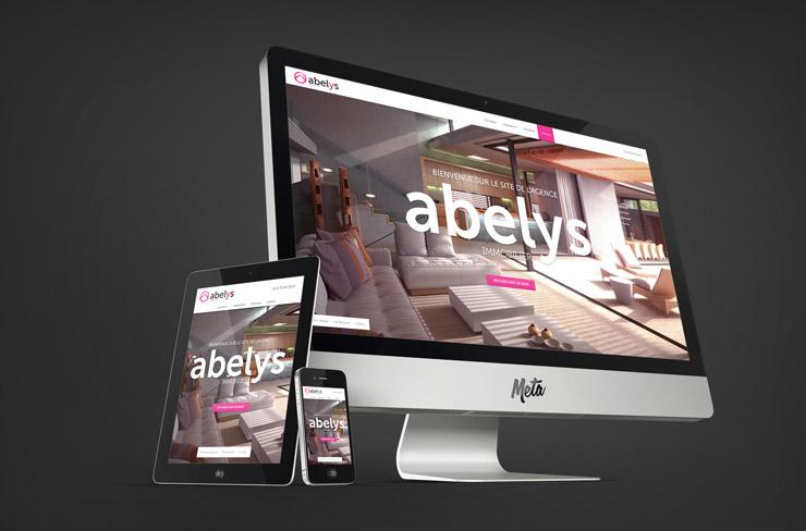 Site internet Abelys Immobilier