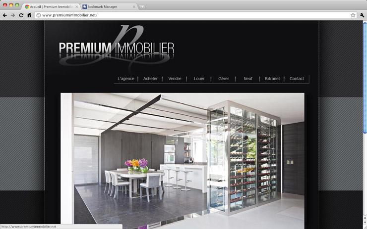 premium immobilier meta cr ation agence de communication globale grenoble. Black Bedroom Furniture Sets. Home Design Ideas