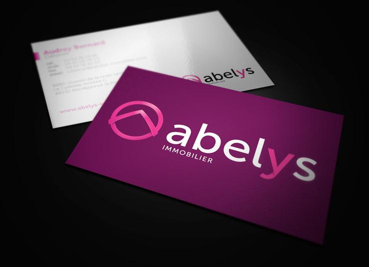 Cartes de visite Abelys Immobilier