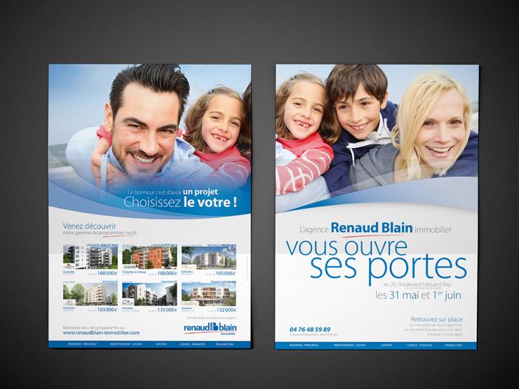 Affiche portes ouvertes Juin 2014 de l'agence Renaud Blain immobilier à Grenoble - 38