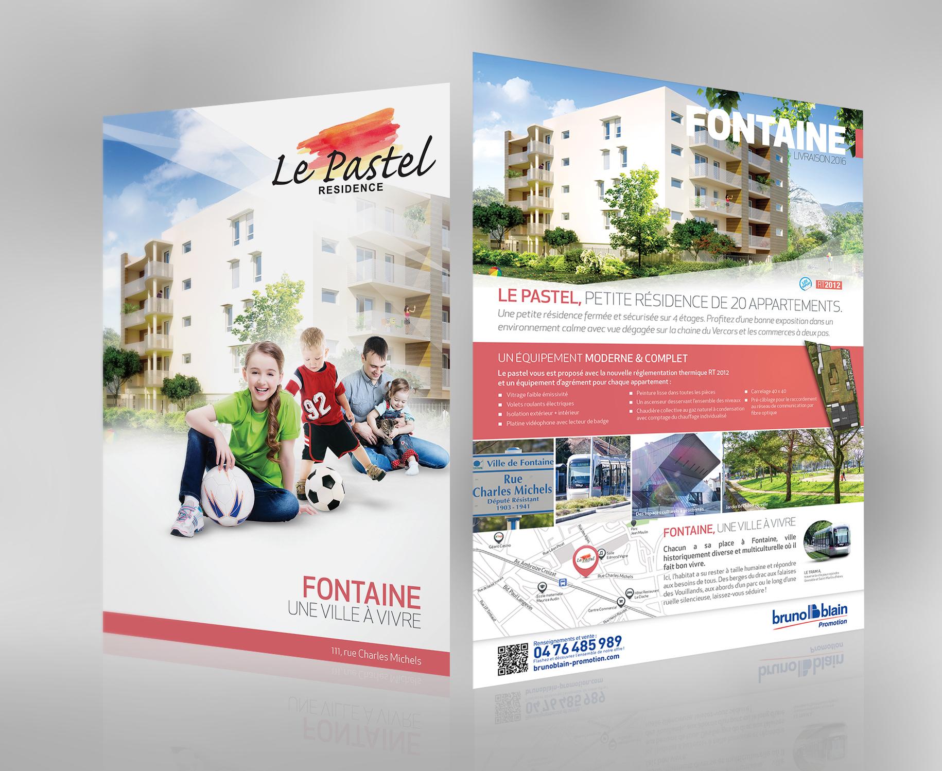 Plaquette du programme immobilier, le Pastel à Fontaine - 38