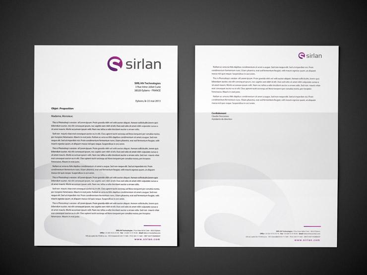 Papier à en-tête Sirlan Technologies